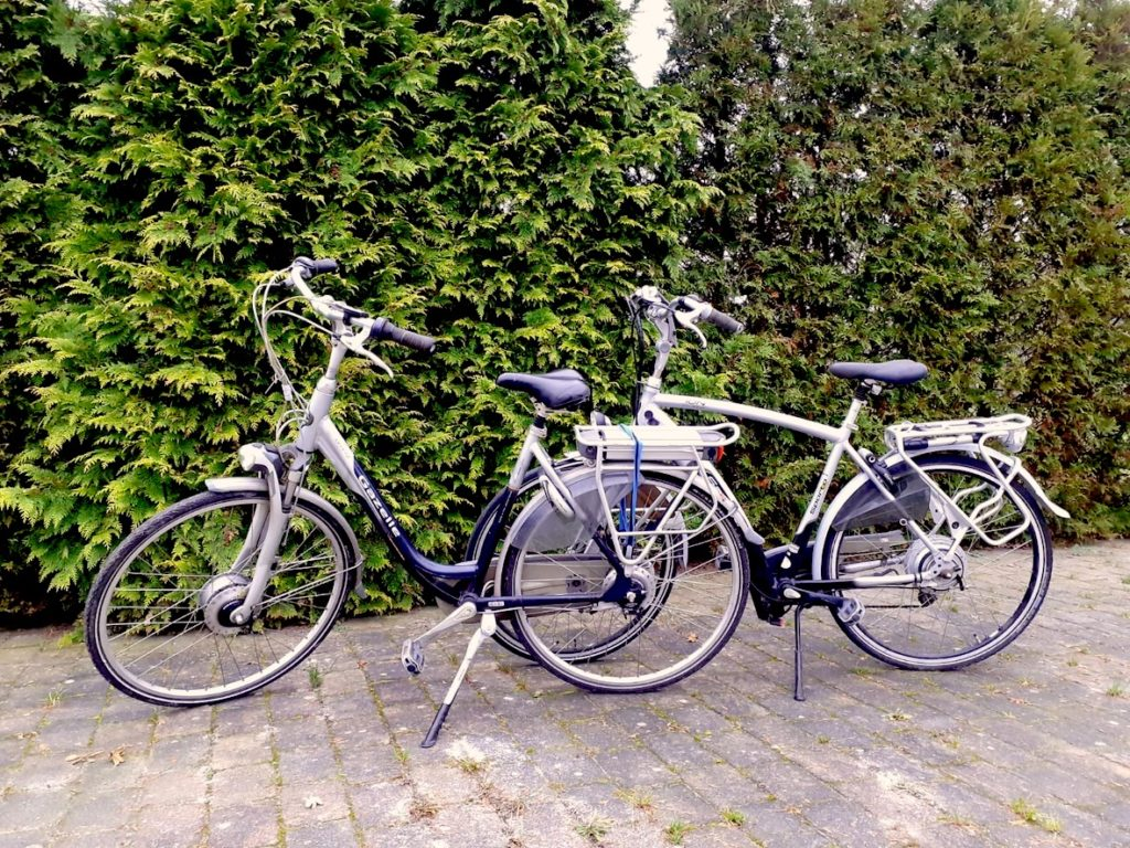 e-bikes van Tjongeroog